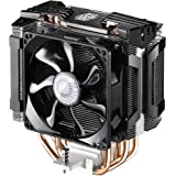 Cooler Master Hyper D92 CPU Cooler with Dual 92mm Offset Push-Pull Fans and Accelerated Cooling System - Silver Fins Black Fa