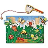 Melissa & Doug 3779 Magnetic Wooden Bug-Catching Puzzle Game (10 pcs)