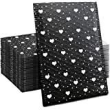 #000 6x10 Inch Black Heart Poly Bubble Mailers Self Seal Padded Envelopes Waterproof Thicken Envelopes Pack of 25