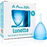 Lunette Menstrual Cup - Blue - Reusable Model 1 Menstrual Cup for Light Flow