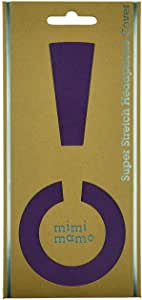 ボロボロのイヤーパッドが復活|修理・保護・汗ムレの解消に|mimimamo スーパーストレッチヘッドホンカバー L (パープル) ※各機種への対応はメーカーHPのヘッドホン対応表をご確認ください