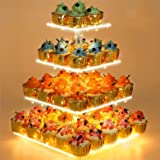 Cupcake Stand - Premium Cupcake Holder - Acrylic Cupcake Tower Display - Cady Bar Party Décor - 4 Tier Acrylic Display for Pa
