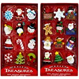 Kurt Adler Petite Treasures 12-Piece Miniature Ornaments Set 2 Pack
