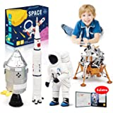 Lehoo Castle Building Toys for 6-8 Year Old, Lunar Space Station Space Shuttle Building Kit Including Astronaut, Rocket, Spac