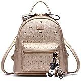 DOODOO レディース リュック ミニ バックパック PUレザー ポシェット Mini Rucksack Bag for Women