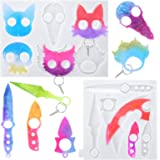 Resin Keychain Mold –Easy to Use and Demold – Silicone Epoxy Mold for Portable Keychains with 10pcs Key Rings