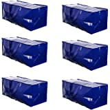 VENO Heavy Duty Extra Large Storage Bag Moving Tote Backpack Carrying Handles & Zipper - Compatible with IKEA Frakta Hand Car