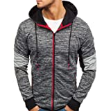 Willingviedd Men's Full-Zip Hooded Cardigan Sweatshirt