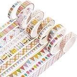 Yubbaex 裝飾膠帶 金箔 女孩子的風格 薄款 禮品包裝、DIY工藝品、筆記本裝飾 (聚會金 10卷)