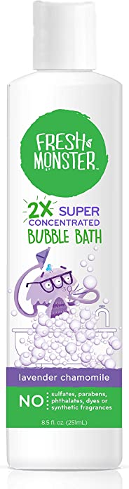 Fresh Monster Bubble Bath Kids, Natural, 2X Super Concentrated,1 count 8.5 oz.