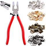 "Swpeet 41 Sets 1"" 25mm 4 Colors Key Fob Hardware with 1Pcs Key Fob Pliers, Glass Running Pliers Tools with Jaws, Studio Runni"