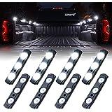 Xprite Led Rock Light for Bed Truck 24 LEDs Cargo Truck Pickup Bed Off Road Under Car Foot Wells Rail Lights Side Marker LED