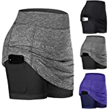 VONOVO 3PCS Womens Shorts for Summer Yoga Workout Running Bike Sports 2 in 1 Workout Athletic Shorts with Pockets