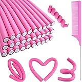 30PCS Flexible Curling Rods Hair Twist Flexi Rods Hair Curlers Set, Twist Foam Hair Rollers No Heat Hair Rods Rollers Hair Cu