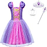 HenzWorld Princess Costume Dress Girls Birthday Party Cosplay Outfit Jewelry Accessories 1-10 Years