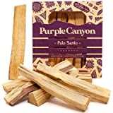 PURPLE CANYON Palo Santo - 8 Pack - Organic Natural Incense Sticks for Smudging Meditation Cleansing and Stress Relief - Sust