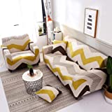 Sofa Cover for 1/2/3/4 Seater with Various Printed and Size 3 Seater Sofa Cover 2 Seater Couch Stretch Armless Sofa Slipcover