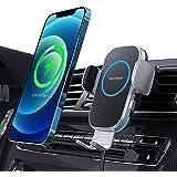 【2021年進化版】Aouevyo 車載ワイヤレス充電器 15W急速 車載ホルダー スマホホルダー 車 自動開閉 エアコン吹き出し口用 360度回転 iPhone 12 / 12pro / 12 pro max /12 Mini / 11 / 11p