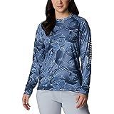 Columbia Women's PFG Super Tidal Tee II Long Sleeve Shirt, UV Protection, Moisture-Wicking