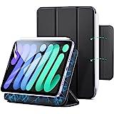ESR iPad mini6 ケース 2021 マグネットケース 磁気吸着 オートスリープ/ウェイク対応 Pencil 2対応 スリム 手触りがいい カバー ブラック