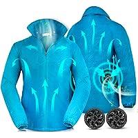Yoyome 空調服 空調ウェア 作業服 エアコン服 薄手 扇風服 ワークブルゾン 作業ジャケット 夏 長袖 熱中症対策…