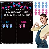 Happy Storm Gender Reveal Party Games Poster Gender Reveal Party Supplies Gender Reveal Voting Game Poster with Voting Sticke