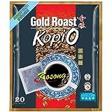 Gold Roast Kopi-O Ground Coffee Free of Sugar, Kosong, 9 g (Pack of 20)
