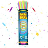 PartySticks Glow Sticks Party Supplies 100pk - 8 Inch Bulk Glow Light Up Sticks Party Favors, Glow in the Dark Party Decorati