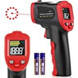 Digital Laser Temperature Gun Infrared Thermometer Gun with Color LED Display, Non-Contact IR Thermometer with Alarm for Kitc