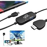 CNSL多機能ミニドック&交換ケーブル スイッチドック取替 大きなドックなし 頻繁に抜き差し不要 Nintendo switchに専門 4k USB3.1ポート テレビ出力 仕事対応 初心者向け (黒)