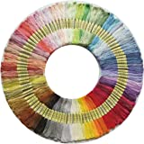 100 Skeins Per Pack, Cross Stitch Threads, Premium Rainbow Color Embroidery Floss, Friendship Bracelets Floss, Polyester Cott