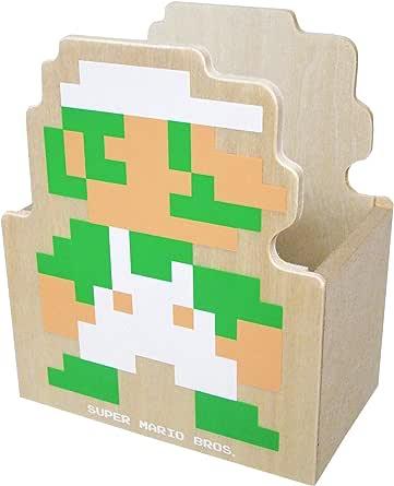 スーパーマリオブラザーズ 木製ダイカット小物入れB(ルイージ)MZ06