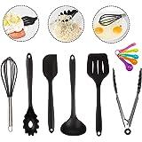 キッチンツールセット シリコン HAOBAIMEI 調理器具 11件セット 台所用品 製菓器具 ステンレス鋼ハンドル 食…