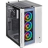 Corsair Crystal 680X RGB High Airflow ATX PC Gaming Smart Case, Tempered Glass - White