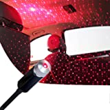 Romantic Star Projector Night Lights, Flexible Romantic Galaxy USB Night Lamp for Cars Ceiling Party Bedroom Portable USB Nig