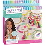 Make It Real - Neo-Brite Chains and Charms. DIY Gold Chain Charm Bracelet Making Kit for Girls. Arts and Crafts Kit to Create