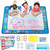 Hautton Magic Water Doodle Mat, 39.5 x 31.5 Inch Large Drawing Coloring Mat Painting Writing Board with 15 Accessories Educat