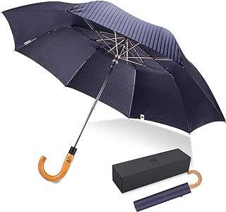 ドイツ(boy) 折りたたみ傘 高級傘 メンズ用 紳士傘 自動開き 梅雨対策 丈夫 耐風 撥水 晴雨兼用 通勤 (ダックブルー)