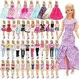 Barwa 21 Accessories Selected Randomly for 11.5 Inch 30 cm Dolls: 5 Fashion Dresses + 5 Clothes + 5 PCS Pants + 3 Wedding Dre