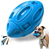 EASTBLUE Squeaky Dog Toys forAggressiveChewers: Rubber Puppy Chew Ball with Squeaker, Almost Indestructible and Durable Pet