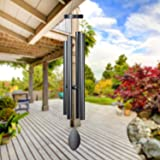 """Epartswide Large Wind Chimes Outside Deep Tone,44"""" Memorial Wind Chimes Outdoor with 4 Heavy Tubes Soothing Melody Wind Chime"""
