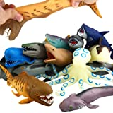 "ValeforToy Ocean Sea Animal, 8"" Rubber Bath Toy Set(8 Pack Random), Food Grade Material TPR Super Stretches, Some Kinds Can C"