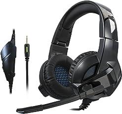 Apletency ゲーミングヘッドセット 高音質 高集音性 臨場感 折り畳み式 マイク付き 伸縮性有り ゲーム用ヘッドホン 黒い