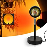 Sunset lamp, Night Light Projector Led Lamp, 180 Degree Rotation USB Projection Lamp, Romantic Visual Floor Stand Led Light,