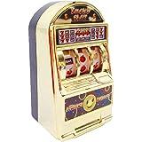 スロットマシンのおもちゃ、1つのミニカジノラッキー宝くじゲームマシンバーと回転リール減圧おもちゃのスロットマシンバンクカジノのテーマパーティーの装飾
