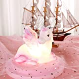 Unicorn Night Light Lamp Girls Novelty Magical Light with 4hrs Timer Function Ideal for Kids Gift, Bedroom Party Birthday Dec