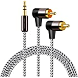 RCA to 3.5MM,Cablecreation 3.5mm to 2RCA Auxジャックステレオオーディオ変換ケーブルY分配ケーブル 3.5 to 2RCAステレオオーディオ変換ケーブル TV/スマホン/MP3/スピーカー/タブレット/ホーム