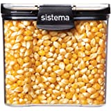 Sistema J7S91 Ultra Square Food Container, 700ml, Black & Stone
