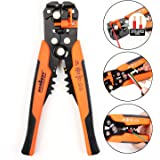 """HORUSDY Wire Stripping Tool, Self-adjusting 8"""" Automatic Wire Stripper/Cutting Pliers Tool for Wire Stripping, Cutting, Crimp"""