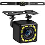 Car Backup Camera, Rear View Camera Ultra HD 12 LED Night Vision,Waterproof Reverse Camera 140° Wide View Angel with Multiple